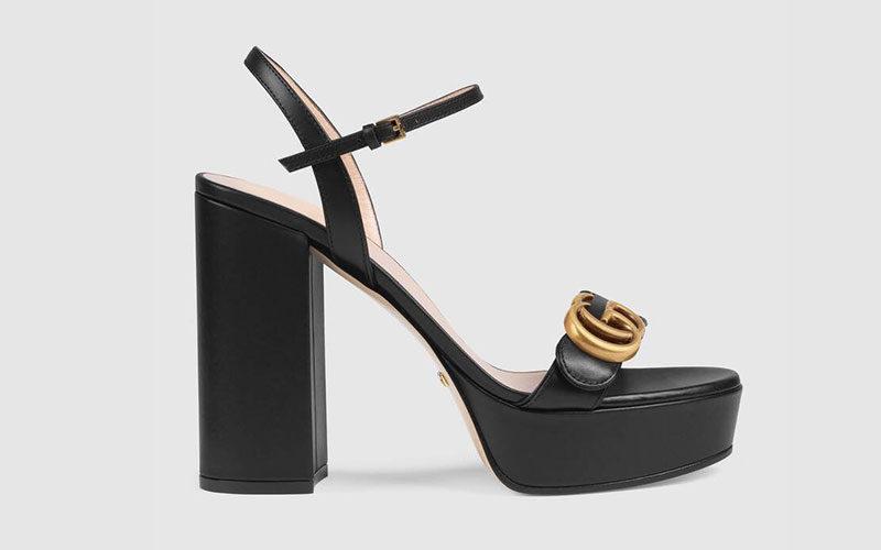 Gucci platform dames pumps zwart