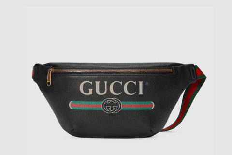 Gucci print heuptas zwart