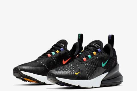 Nike air max 270 dames sneakers zwart/multicolor