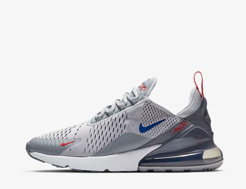 Nike air max 270 heren sneakers grijs/rood
