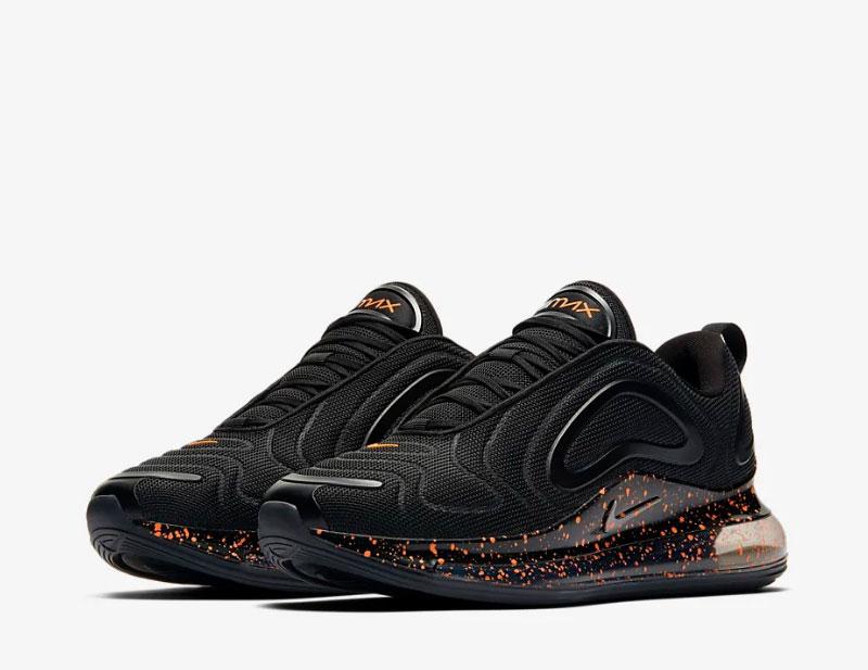 Nike air max 720 sneakers zwart/oranje