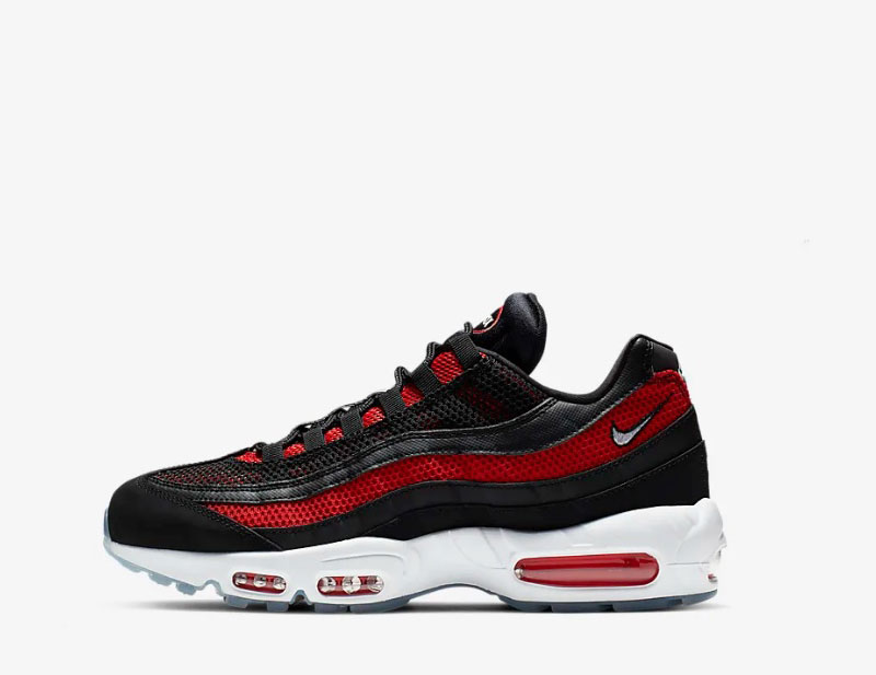 Nike air max 95 essential sneakers zwart/rood