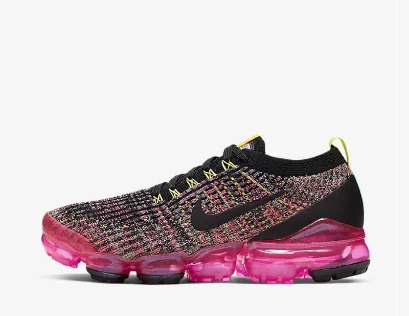 Nike air vapormax flyknit 3 dames sneakers zwart/roze