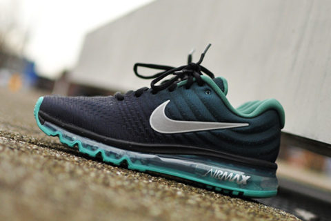 Nike Airmax running sneakers 2017 zwart/groen