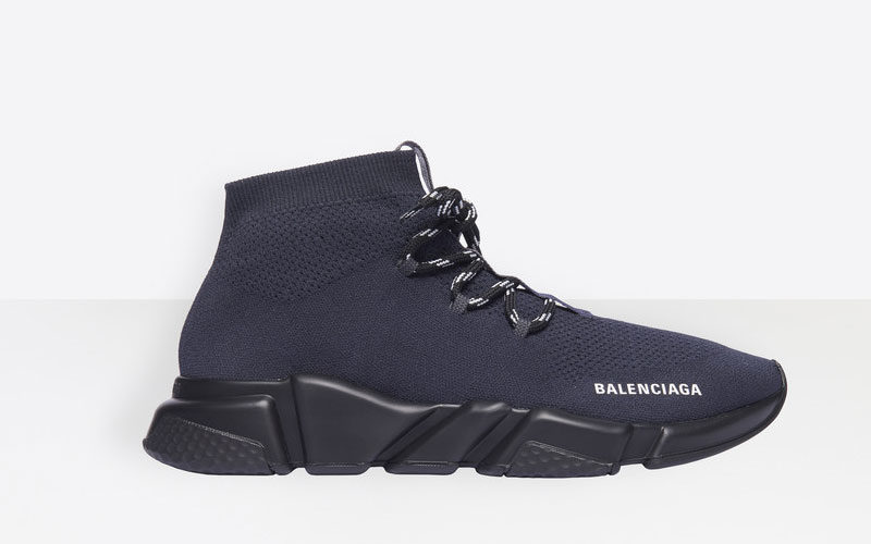 Balenciaga speed trainers lace up sneakers donkerblauw/zwart
