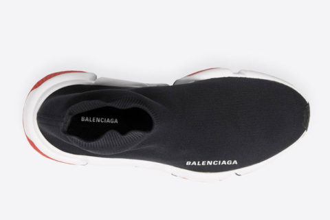 Balenciaga speed trainers sneakers zwart/wit - 01