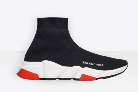 Balenciaga speed trainers sneakers zwart/wit - 01