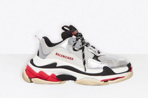 Balenciaga triple s sneakers zilver/zwart