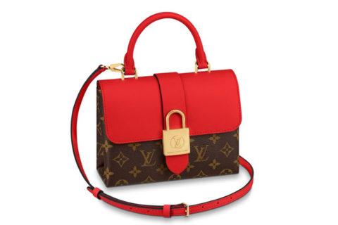 Louis Vuitton locky bb rood/bruin