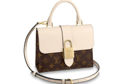 Louis Vuitton locky bb wit/bruin