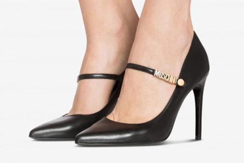 Moschino mary janes dames pumps zwart/goud