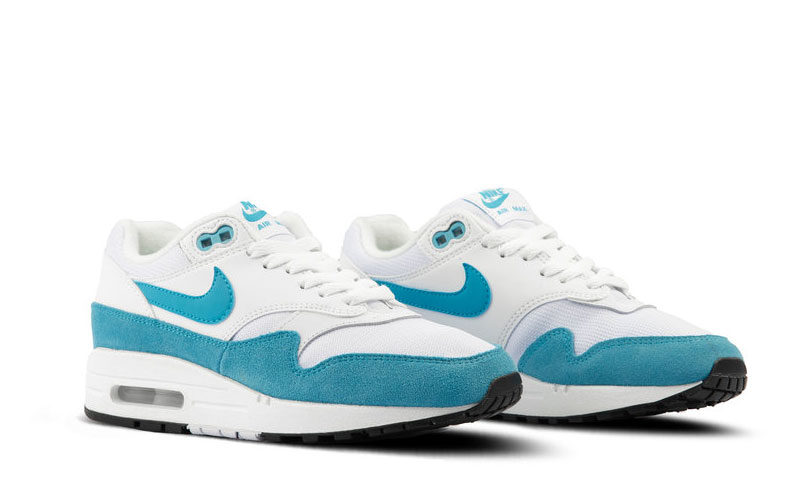 Nike air max 1 dames sneakers wit/blauw