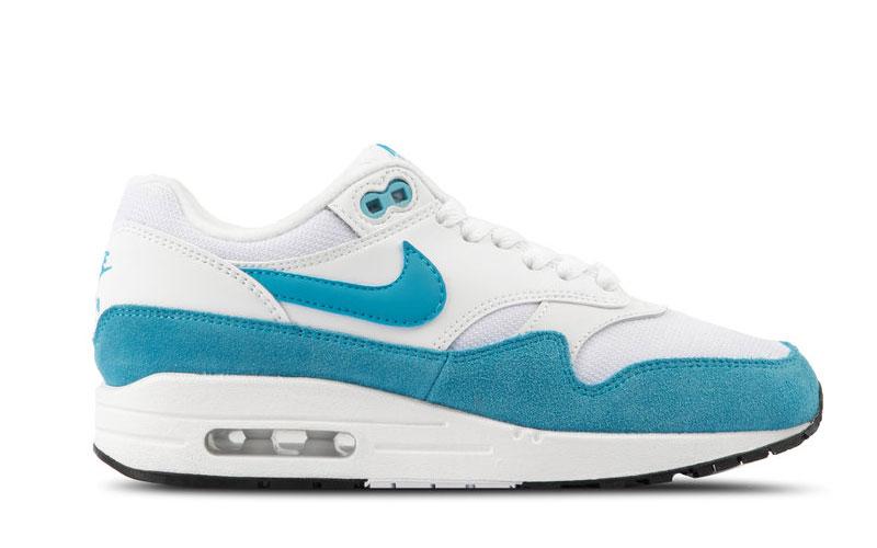 Nike air max 1 dames sneakers wit/blauw