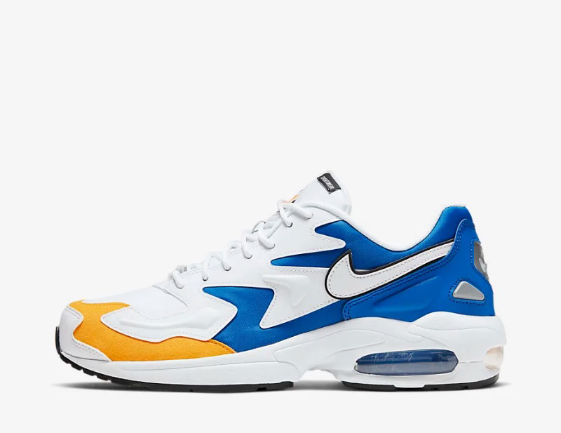 Nike Air Max 2 light premium heren sneakers wit/blauw