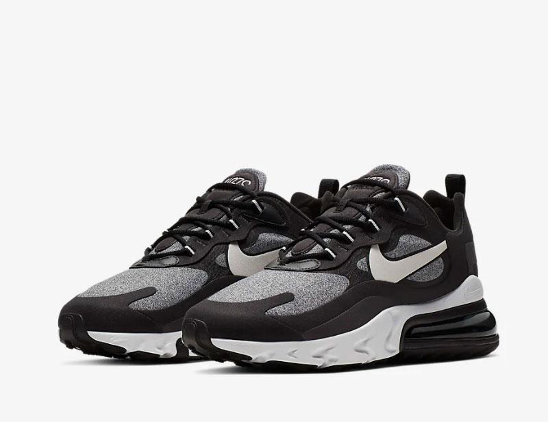 Nike air max 270 react sneakers zwart/grijs