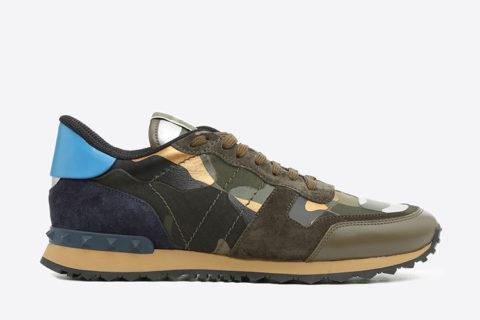 Valentino Garavani camouflage heren sneakers donkerblauw/groen