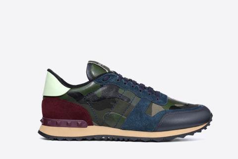 Valentino Garavani camouflage heren sneakers groen/blauw - 01