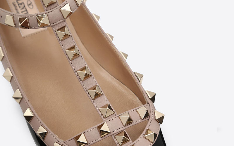 Valentino Garavani rockstud dames ballerina's zwart - 02