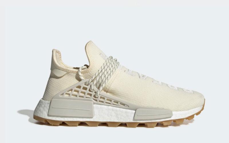 Adidas Pharrell Williams hu nmd proud sneakers crème wit