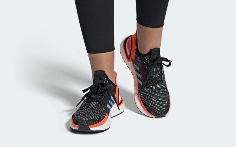 Adidas ultraboost 19 dames sneakers oranje/zwart