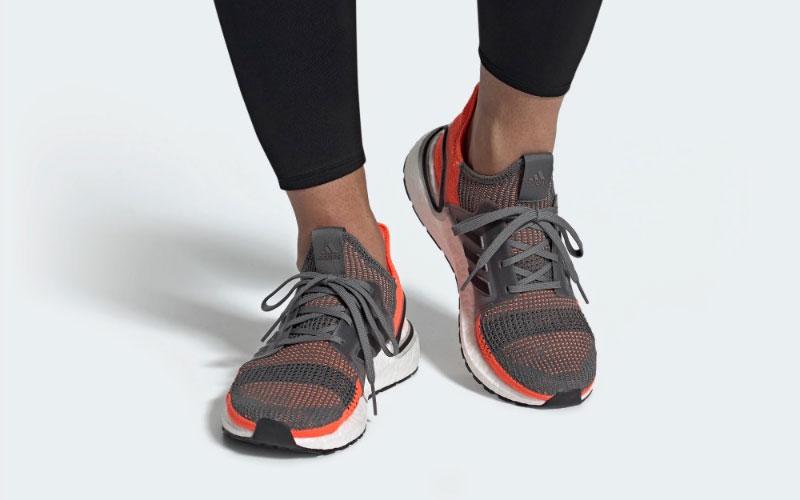 Adidas ultraboost 19 heren sneakers grijs/oranje