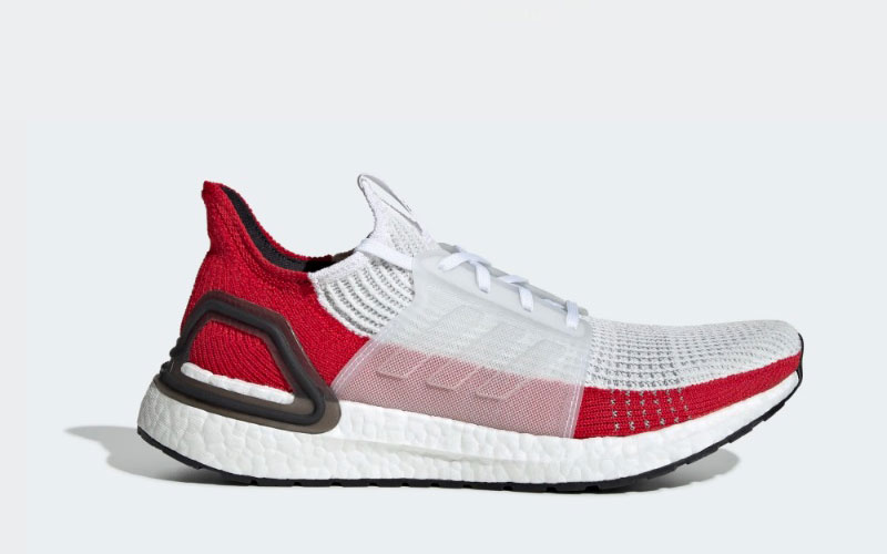 Adidas ultraboost 19 heren sneakers wit/rood