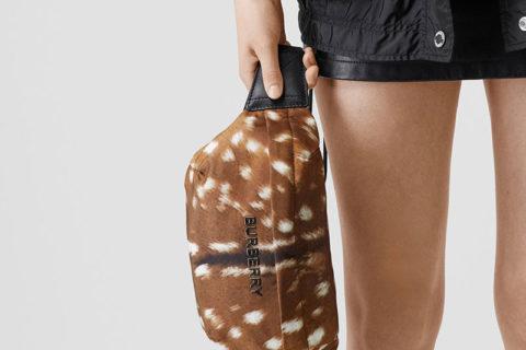 Burberry bum bag medium deer print heuptas bruin