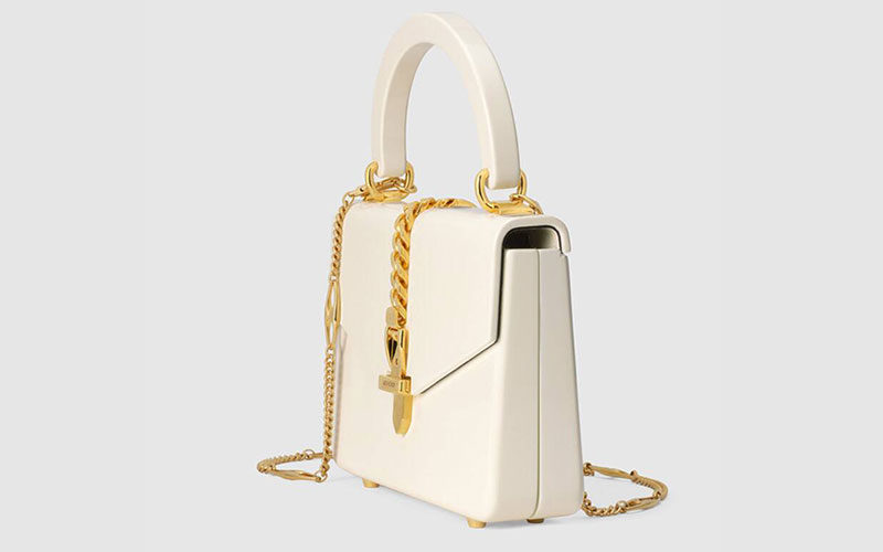 Gucci sylvie 1969 mini handtas wit