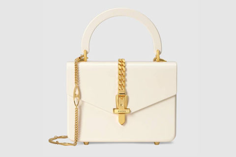 Gucci sylvie 1969 mini handtas wit