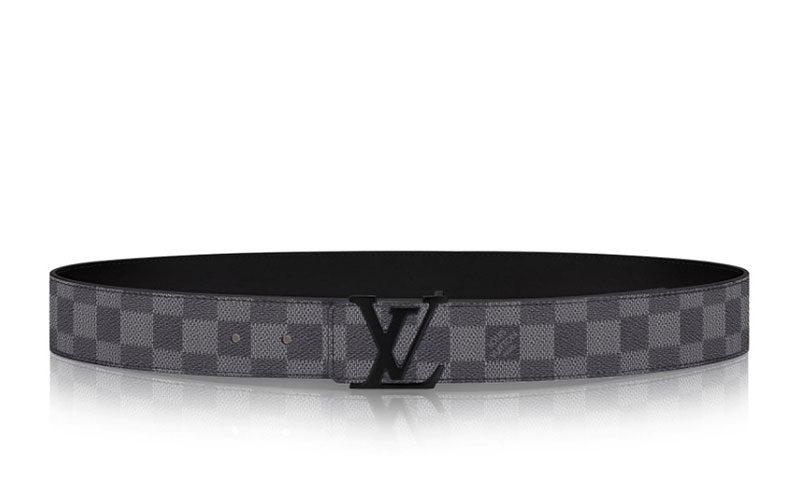 Louis Vuitton lv initiales 40mm riem zwart