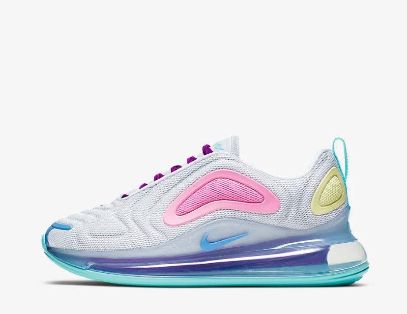 Nike air max 720 dames sneakers wit/paars – 01