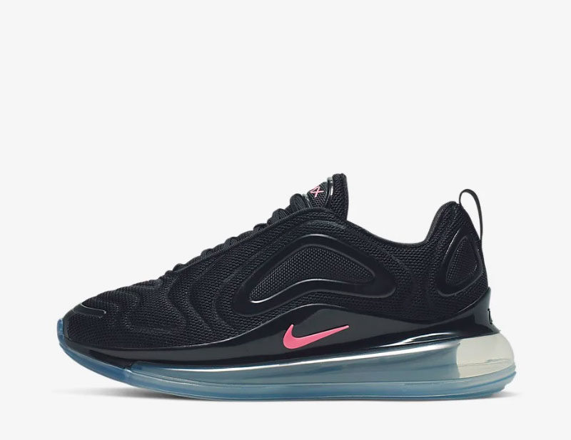 Nike air max 720 dames sneakers zwart/roze