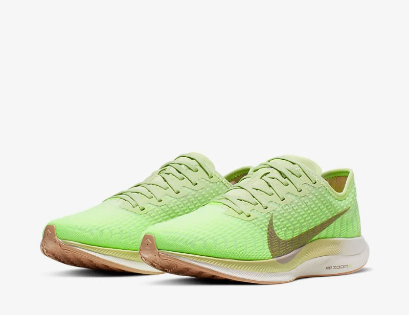 Nike zoom pegasus turbo 2 dames sneakers limegroen
