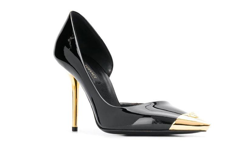 Versace aurene dames pumps zwart/goud
