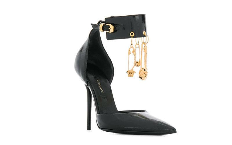 Versace bedels dames pumps zwart/goud