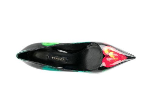 Versace love print dames pumps zwart/rood