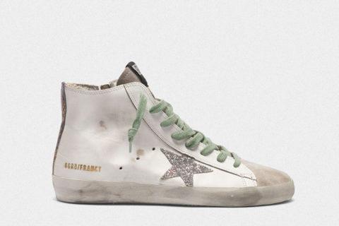 Golden Goose francy dames sneakers wit/zilver