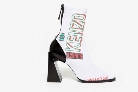 Kenzo k-square dames enkellaarzen wit