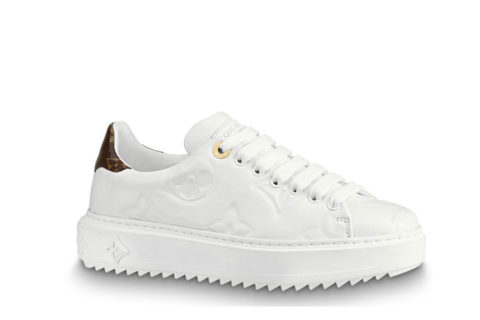 Louis Vuitton time out dames sneakers wit/bruin