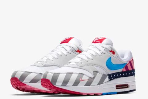 Nike air max 1 parra sneakers wit/grijs