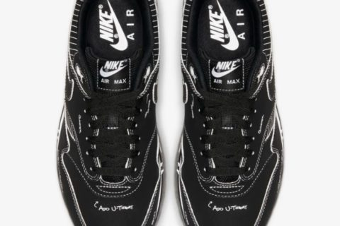 Nike air max 1 sketch to shelf sneakers zwart