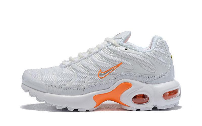 Nike air max plus kinder sneakers wit/oranje