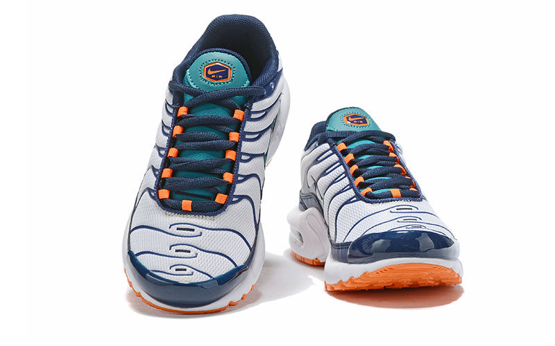 Nike air max plus kinder sneakers wit/donkerblauw