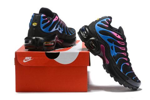 Nike air max plus kinder sneakers zwart/blauw