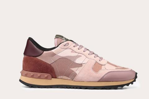 Valentino Garavani camouflage dames sneakers roze