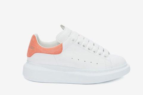 Alexander Mcqueen oversized dames sneakers wit/oranje