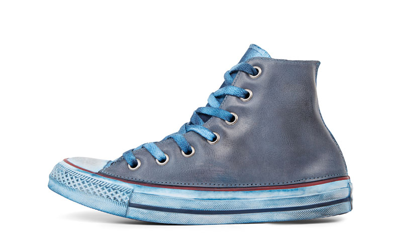 Converse all star premium vintage chuck taylor hoge sneakers blauw