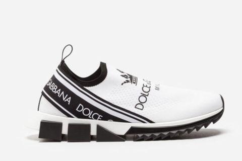 Dolce & Gabbana sorrento heren sneakers wit/zwart