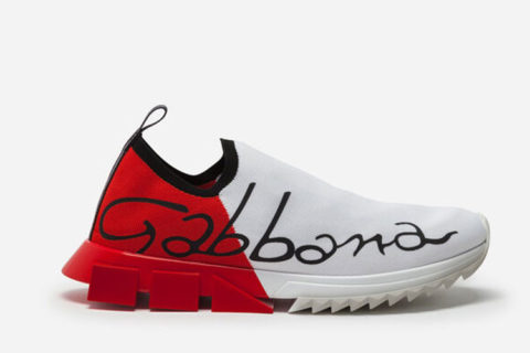 Dolce & Gabbana sorrento sneakers wit/rood