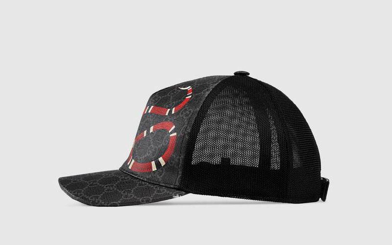 Gucci kingsnake gg supreme honkbalpet zwart